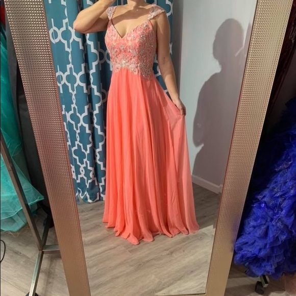 Tiffany Designs Dresses & Skirts - NWT Tiffany Designs coral prom or pageant gown